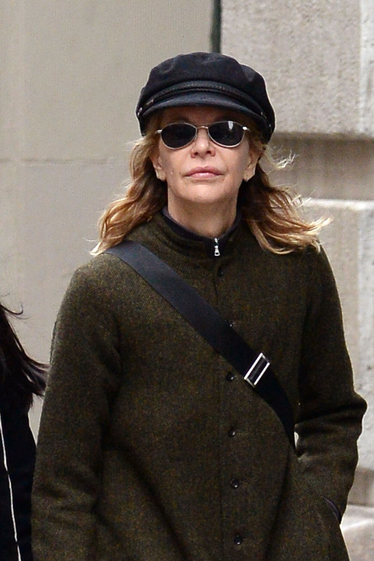 MEG RYAN Out in New York 05/09/2017