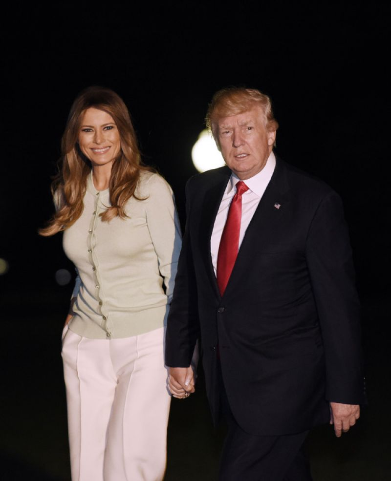 MELANIA TRUMP Arrive to White House in Washington 05/29/2017