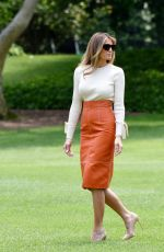 MELANIA TRUMP Departing White House in Washington 05/19/2017
