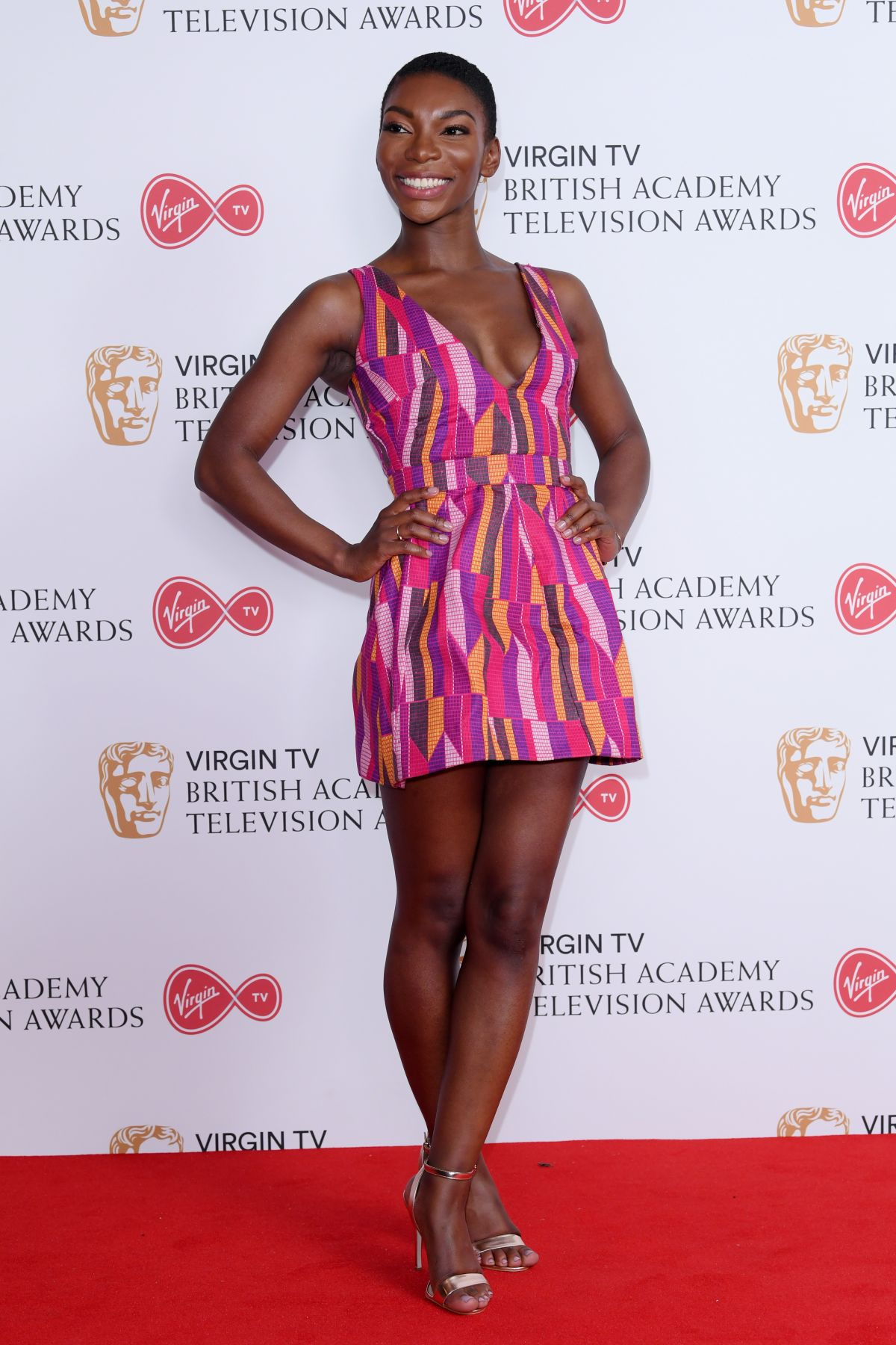 MICHAELA COEL at 2017 British Academy Television Awards in London 05/14/2017