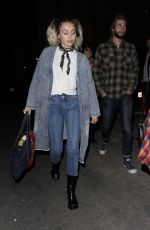 MILE CYRUS Arrives at The Flaming Lips Concert in Los Angeles 05/09/2017