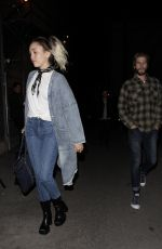 MILEY CYRUS Night Out in Los Angeles 05/09/2017