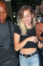 MILEY CYRUS Out for Dinner in New York 05/16/2017