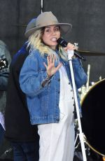 MILEY CYRUS Performs at Today Show in New York 05/26/2017