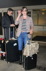 MILLA JOVOVICH at Los Angeles International Airport 05/10/2017