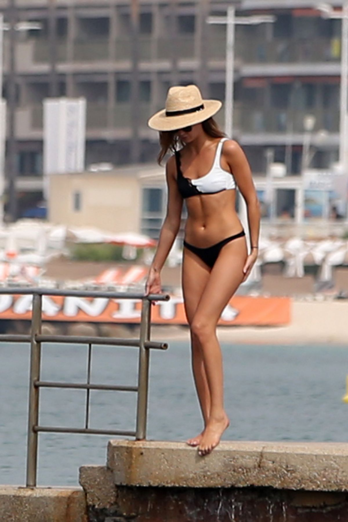 MILLIE MACKINTOSH in Bikini at a Beach in Cannes 05/25/2017