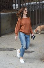 MINKA KELLY Walks Her Dogs at a Park in Hollywood 05/24/2017