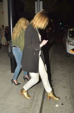 MISCHA BARTON Out for Dinner at Mastros in Los Angeles 04/30/2017
