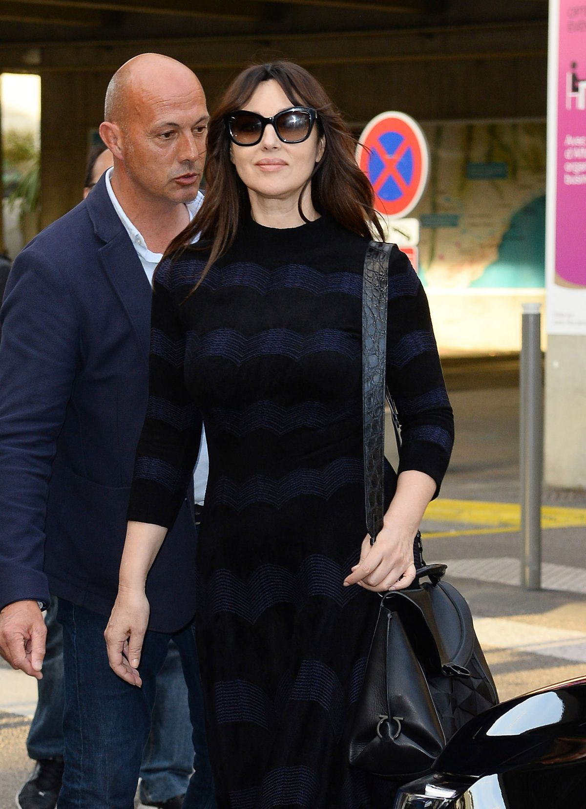 MONICA BELLUCCI Arrives at Nice Airport 05/22/2017