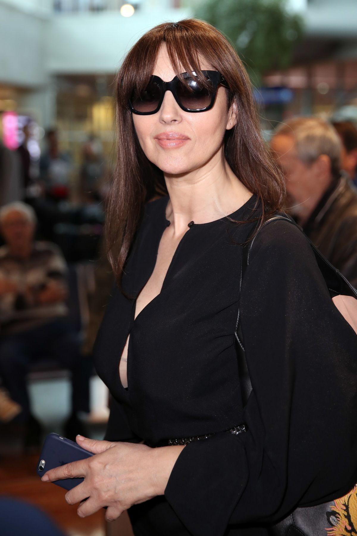 MONICA BELLUCCI at Airport in Nice 05/15/2017