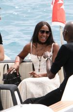 NAOMI CAMPBELL Leaves Eden Roc Hotel in Cannes 05/22/2017