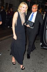 NAOMI WATTS Night Out in New York 05/01/2017