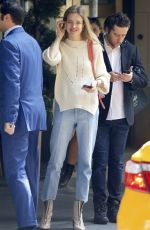 NATALIA VODIANOVA Leaves Carlyle Hotel in New York 05/02/2017