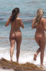 NATASHA OAKLEY and DEVIN BRUGMAN in Bikinis at a Beach in Miami 05/04/2017