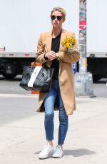 NICKY HILTON Out Buys Flowers in New York 05/08/2017