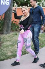 NICOLE COCO AUSTIN Out at Universal Studios in Universal City 05/15/2017