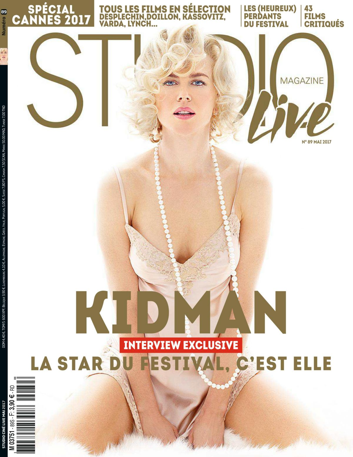 NICOLE KIDMAN in Studio Cinelive Magazine, France May 2017 Issue