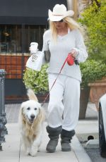 NICOLLETTE SHERIDAN Out with Her Dog in Calabasas 05/09/2017