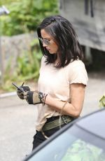 OLIVIA MUNN on the Set of The Predator in Vancouver 05/10/2017
