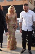 PAMELA ANDERSON at Playa Padre Opening in Marbella 05/27/2017