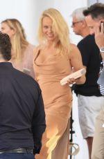 PAMELA ANDERSON Leaves Her Hotel in Miami 05/13/2017