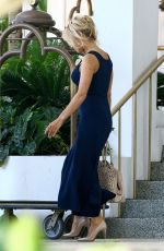 PAMELA ANDERSON Leaves Her Hotel in Miami 05/14/2017