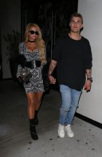 PARIS HILTON and Chris Zylka Leaves Catch LA in West Hollywood 05/17/2017