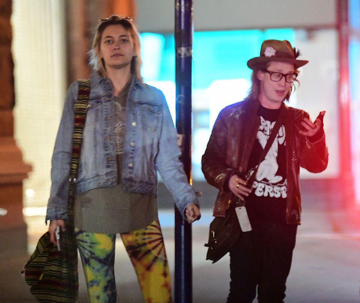 PARIS JACKSON and Macaulay Culkin Out in New York 05/05/2017