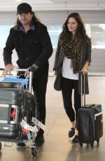 PHOEBE TONKIN Arrives at Brisbane Airport 05/04/2017