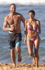 PIA MILLER in Bikini and Jake Ryan on the Set of Home & Away at Palm Beach in Sydney 05/30/2017