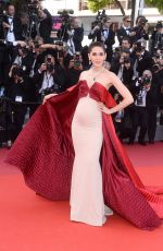 Pregnant ARAYA A. HARGATE at The Meyerowitz Stories Premiere at 70th Annual Cannes Film Festival 05/21/2017