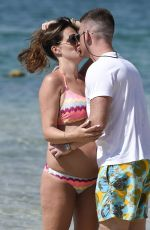 Pregnant DANIELLE LLLOYD in Bikini on the Beach in Dubai 05/27/2017