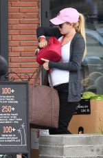 Pregnant HEIDI MONTAG Shopping for Groceries at Erewhon Natural Foods in Venice 05/27/2017