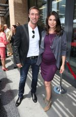 Pregnant NADIA BJORLIN at Ken Corday Walk of Fame Ceremony in Hollywood 05/15/2017
