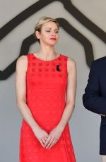 PRINCESS CHARLENE at Podium Ceremony of 75th Monaco F1 Grand Prix in Monte Carlo 05/28/2017