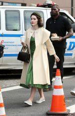 RACHEL BROSNAHAN on the Set of The Marvelous Mrs. Maisel in New York 05/24/2017