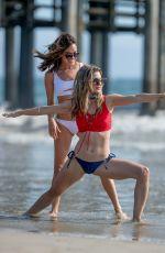 RACHEL MCCORD and TERI ANDREZ in Bikinis on the Beach in Santa Monica 05/28/2017