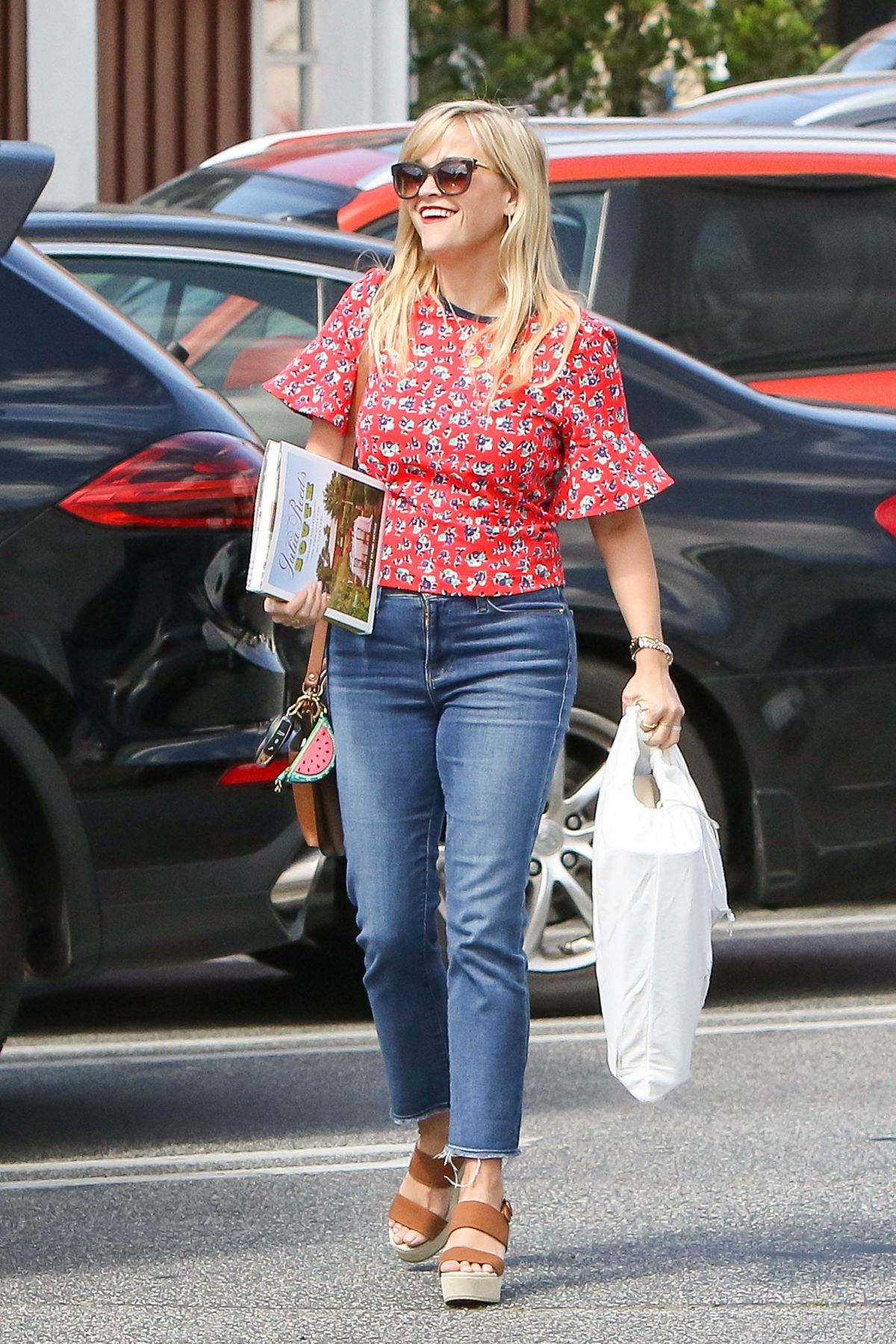 REESE WITHERSPOON in Jeans Out Shopping in Los Angeles 05/16/2017