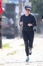 REESE WITHERSPOON Out for a Morning Run in Los Angeles 05/15/2017