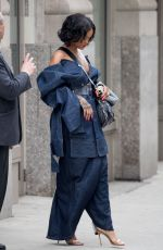 RIHANNA Leaves Her Apartment in New York 05/23/2017