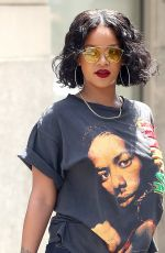 RIHANNA Out and About in New York 05/24/2017