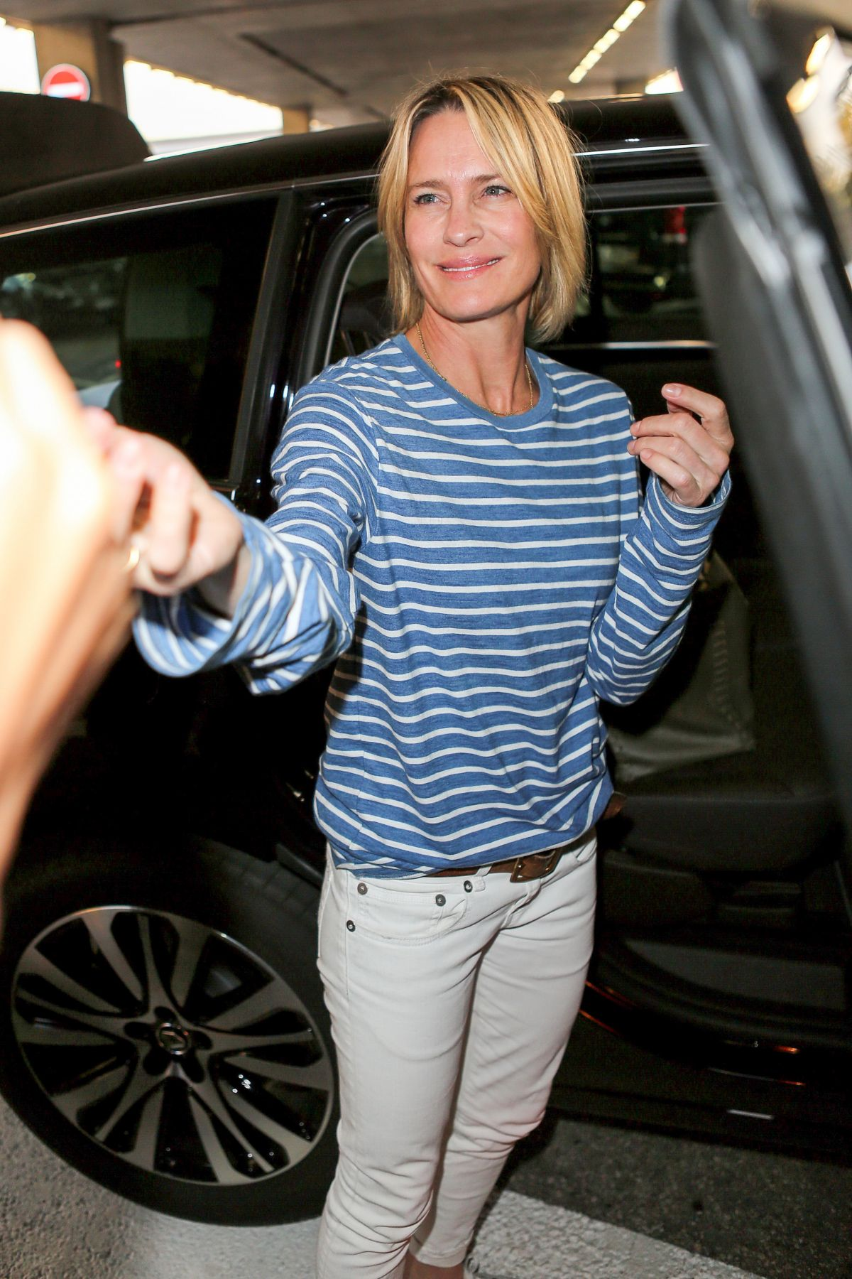 ROBIN WRIGHT PENN Arrives at Airport in Nice 05/16/2017