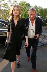 ROSAMUND PIKE Arrives at Le Quotidien TV Show in Paris 05/09/2017