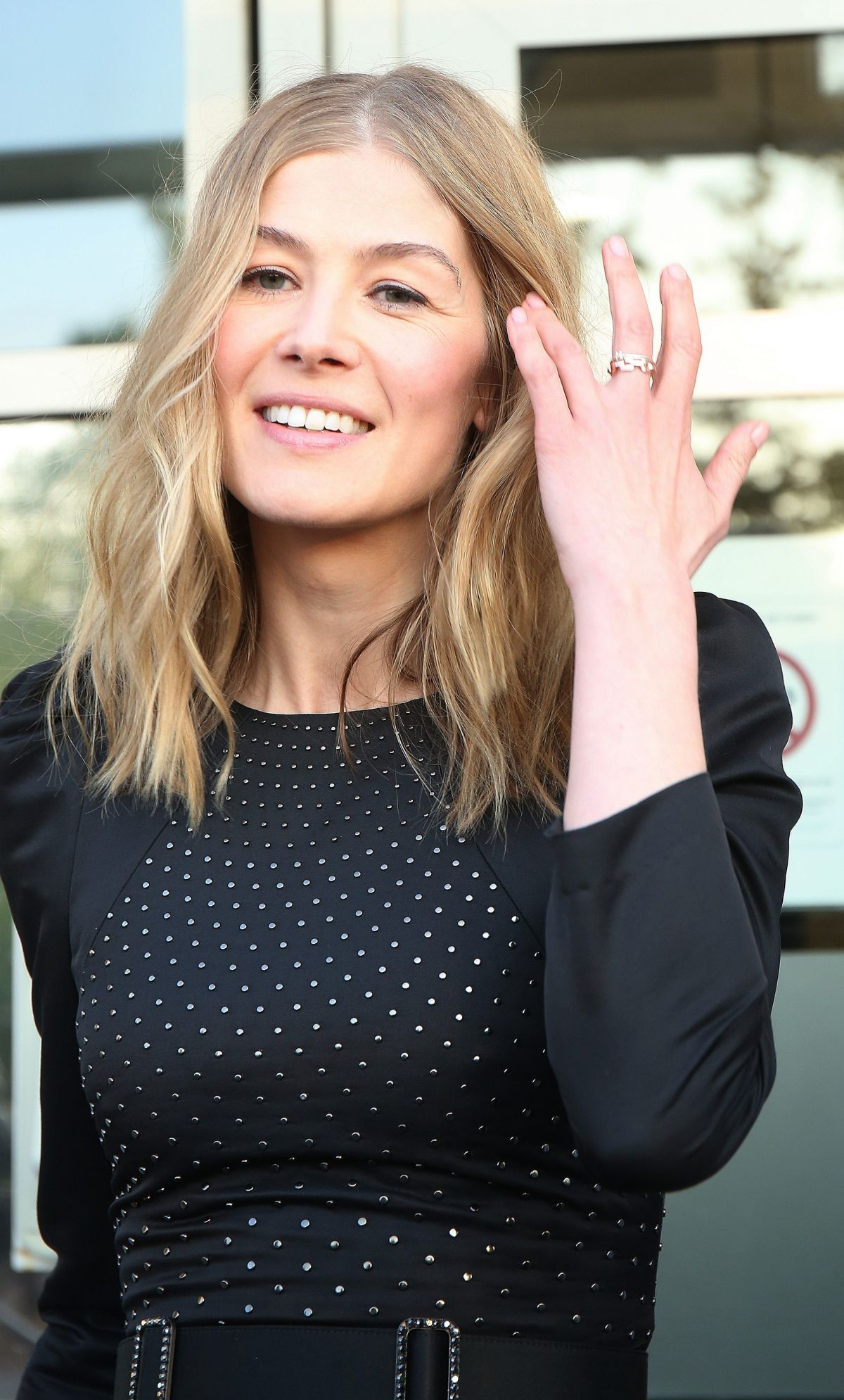 ROSAMUND PIKE Arrives at Le Quotidien TV Show in Paris 05 ...