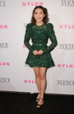 ROWAN BLANCHARD at Nylon Young Hollywood May Issue Party in Los Angeles 05/02/2017