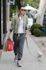 RUMER WILLIS Takes Her Dog Out in Los Angeles 05/08/2017