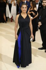 SALMA HAYEK at 2017 MET Gala in New York 05/01/2017