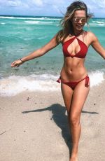 SANDRA KUBICKA in Bikini on the Beach in Miami 04/29/2017