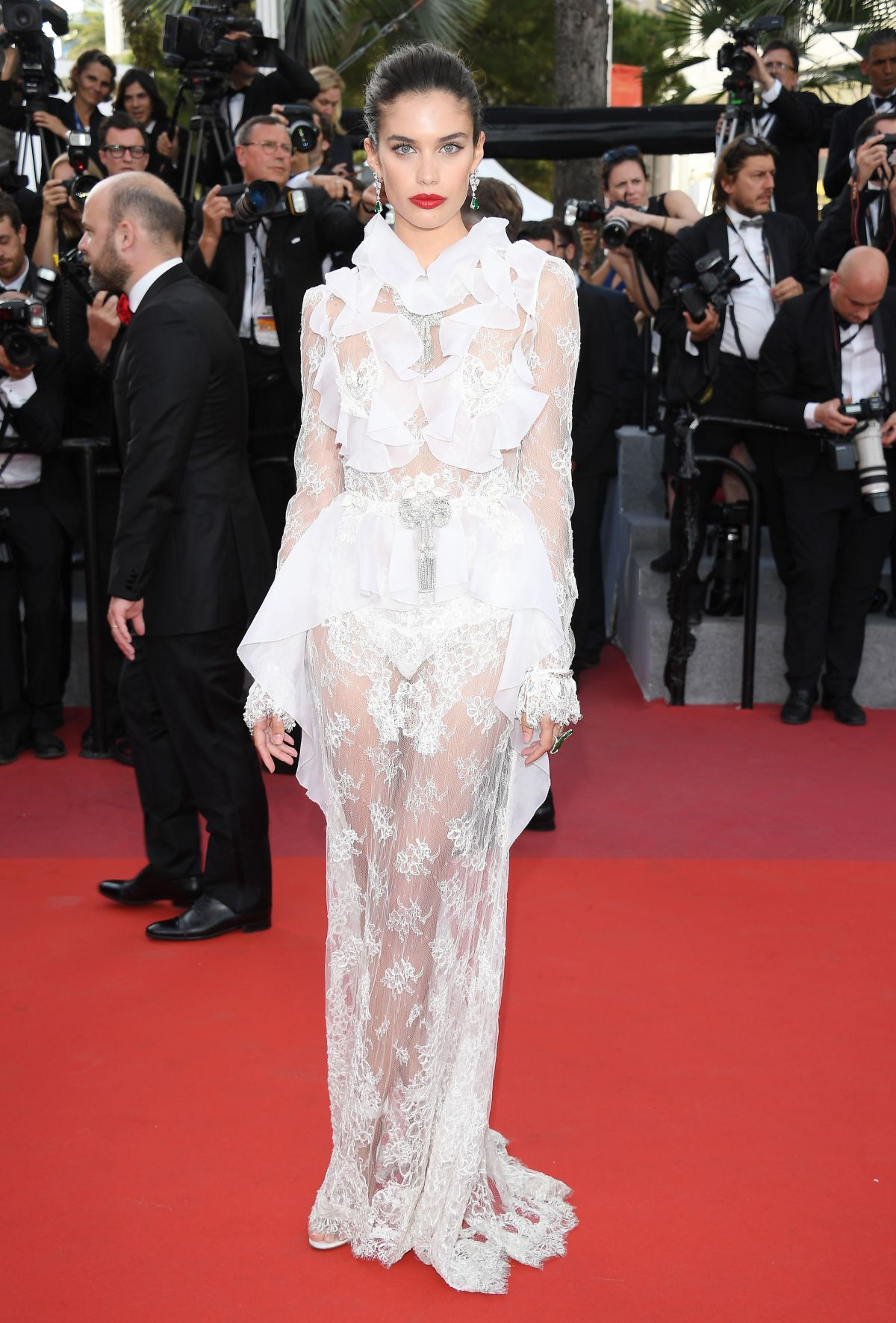 SARA SAMPAIO at The Killing of a Sacred Deer Premiere at 70th Annual Cannes Film Festival 05/22/2017