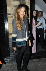 SARAH JANE CRAWFORD at Chiltern Firehouse in London 05/04/2017